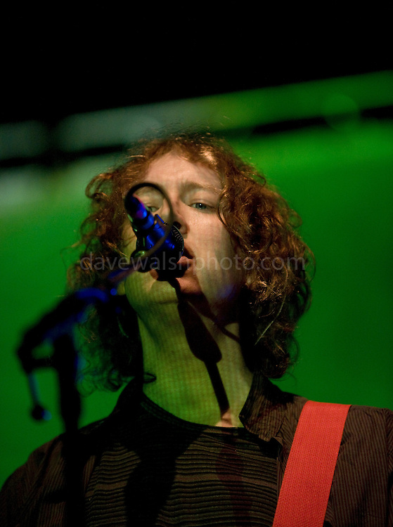 Kevin Shields of My Bloody Valentine at the Electric Arena tent, Electric Picnic 2008, Stradbally, Laois, Ireland. The avant garde indie outfit dropped from view in the early 90s, My Bloody Valentine in 2008 for series of rare appearances - the first in 13th years. .