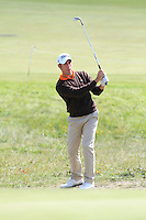 Romain Wattel (FRA) on the 3rd tee during Round 2 of the KLM Open at Kennemer Golf &amp; Country Club on Friday 12th September 2014.<br /> Picture:  Thos Caffrey / www.golffile.ie