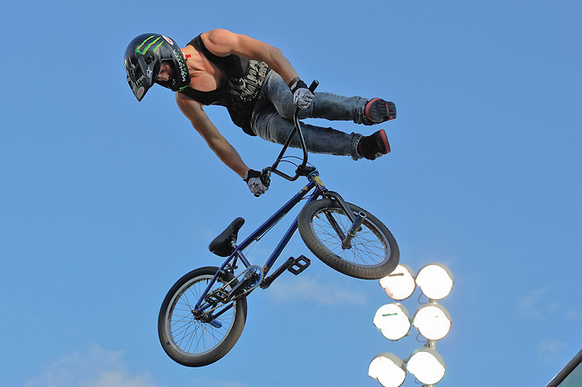 16 August, 2012:  Vince Byron competes during the  BMX Vert Final: Round 1 at the Pantech Beach Championships in Ocean City, MD