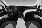 Stock photo of straight dashboard view of a 2018 Toyota Camry LE Auto 4 Door Sedan