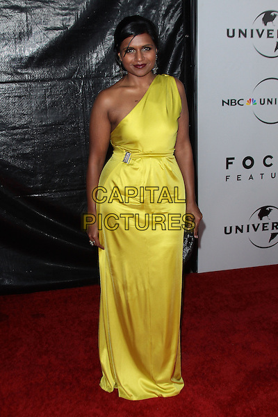 MINDY KALING.NBC Universal's 67th Annual Golden Globe After Party held at Beverly  Hilton, Beverly Hills, California, USA..January 17th 2010.globes full length yellow silk satin one shoulder dress.CAP/ADM/TC.©T.Conrad/Admedia/Capital Pictures