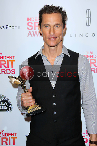 Matthew McConaughey<br /> at the 2013 Film Independent Spirit Awards, Private Location, Santa Monica, CA 02-23-13<br /> David Edwards/DailyCeleb.com 818-249-4998