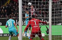 Kopfball Filip Kostic (Eintracht Frankfurt) - 23.11.2019: Eintracht Frankfurt vs. VfL Wolfsburg, Commerzbank Arena, 12. Spieltag<br /> DISCLAIMER: DFL regulations prohibit any use of photographs as image sequences and/or quasi-video.