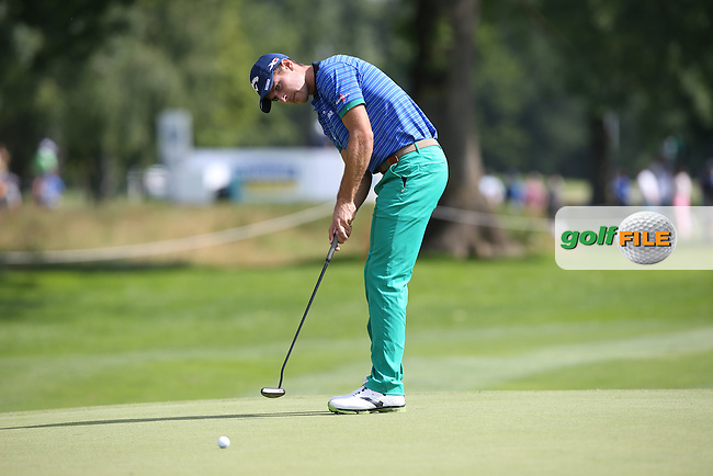 Andrea Pavan (ITA) makes birdie on the 3rd during Round One of the 2015 BMW International Open at Golfclub Munchen Eichenried, Eichenried, Munich, Germany. 25/06/2015. Picture David Lloyd | www.golffile.ie