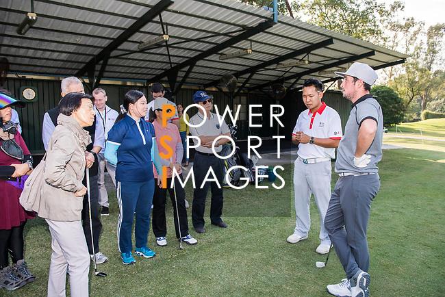 Alfie Plant of England attends the Hong Kong Blind Sports Federation Clinic Hong Kong Blind Sports Federation Clinic during the day one of UBS Hong Kong Open 2017 at the Hong Kong Golf Club on 23 November 2017, in Hong Kong, Hong Kong. Photo by Marcio Rodrigo Machado / Power Sport Images