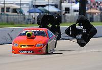 May 21, 2011; Topeka, KS, USA: NHRA pro stock driver Dave River during the Summer Nationals at Heartland Park Topeka. Mandatory Credit: Mark J. Rebilas-