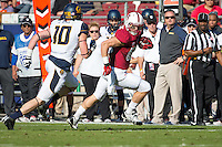 Stanford, CA -- November 23, 2013:  Stanford's Davis Dudchock during a game against Cal at Stanford Stadium. Stanford defeated Cal 63-13.