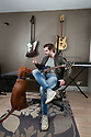 Humphrey with hhis dog Reilly (Mask) musician, Tuesday June 4th, 2019.  (Photo by Paul McErlane for Belfast Telegraph)