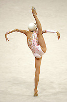 Oct 01, 2000; SYDNEY, AUSTRALIA:<br /> Yulia Barsoukova of Russia performs balance with ball during rhythmic gymnastics final at 2000 Summer Olympics. Yulia won the gold medal in the all around.
