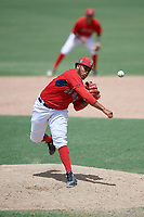 GCL Red Sox relief pitcher Eddy Reynoso (63) delivers a pitch during a game against the GCL Orioles on August 9, 2018 at JetBlue Park in Fort Myers, Florida.  GCL Red Sox defeated GCL Orioles 10-4.  (Mike Janes/Four Seam Images)