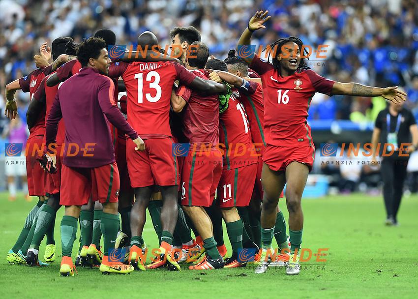 esultanza fine gara Portugal celebration end of match<br /> Paris 10-07-2016 Stade de France Football Euro2016 Portugal - France / Portogallo - Francia Finale / Final<br /> Foto Massimo Insabato / Insidefoto