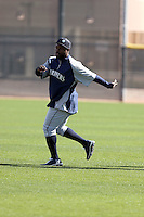 Fernando Rodney of the Seattle Mariners participates in the first day of spring training workouts at the Mariners complex on February 13, 2014 in Peoria, Arizona (Bill Mitchell)
