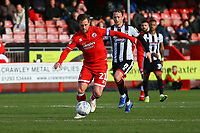 Dannie Bulman of Crawley Town and Kristian Dennis of Grimsby Town during Crawley Town vs Grimsby Town, Sky Bet EFL League 2 Football at Broadfield Stadium on 9th March 2019