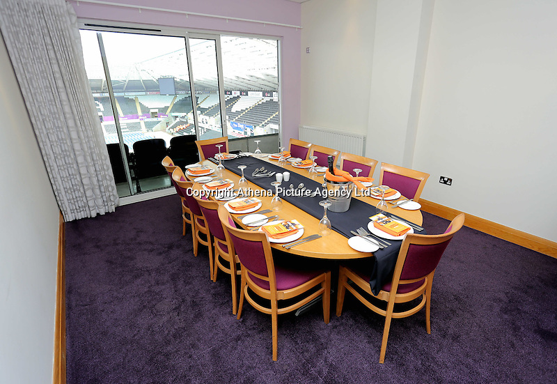 Pictured: Interior view of one of the hospitality boxes Saturday 18 June 2016<br /> Re: Lionel Richie, All The Hits concert at the Liberty Stadium, Swansea, Wales, UK