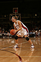 19 January 2006: Krista Rappahahn during Stanford's win over the University of California Golden Bears at Maples Pavilion in Stanford, CA.
