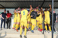 Hornchurch players celebrate promotion during Witham Town vs AFC Hornchurch, Bostik League Division 1 North Football at Spa Road on 14th April 2018