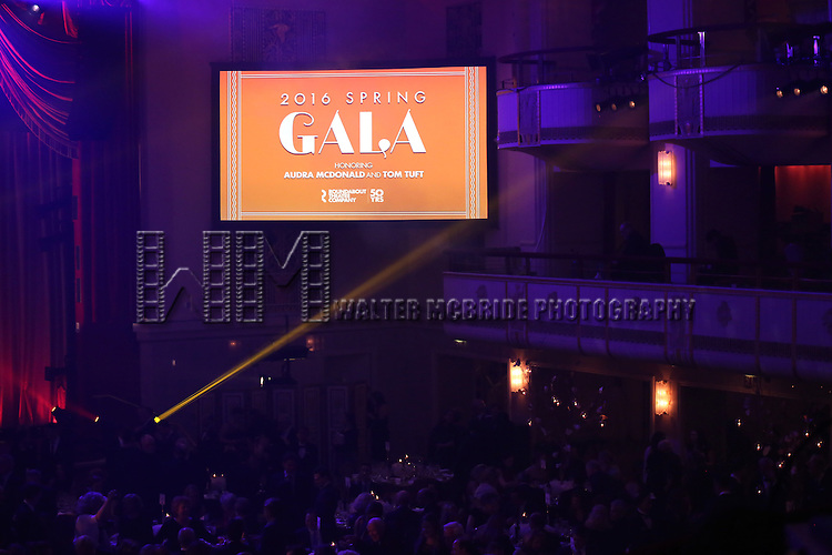 Audience atmosphere during the Roundabout Theatre Company's  50th Anniversary Gala at The Waldorf-Astoria on February 29, 2016 in New York City.