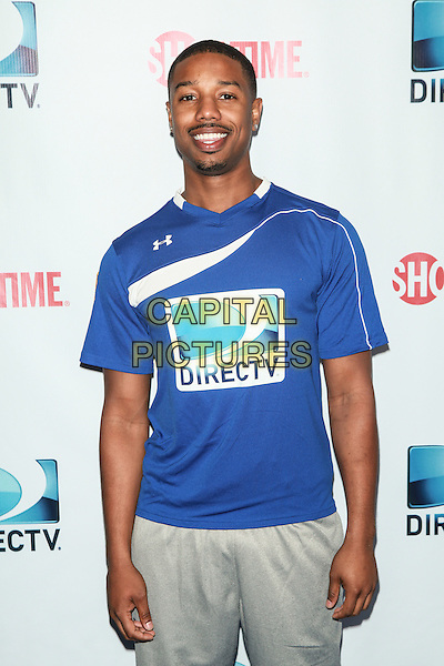 NEW YORK, NY - FEBRUARY 1: Michael B. Jordan attends the DirecTV Beach Bowl at Pier 40 on February 1, 2014 in New York City. <br /> CAP/MPI/COR<br /> &copy;Corredor99/ MediaPunch/Capital Pictures