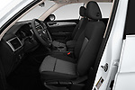 Front seat view of a 2018 Volkswagen Atlas S 5 Door SUV front seat car photos