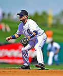5 March 2009: Detroit Tigers' second baseman Placido Polanco in action during a Spring Training game against the Washington Nationals at Joker Marchant Stadium in Lakeland, Florida. The Tigers defeated the visiting Nationals 10-2 in the Grapefruit League matchup. Mandatory Photo Credit: Ed Wolfstein Photo