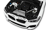 Car Stock 2018 BMW X3 M-Sport 5 Door SUV Engine  high angle detail view