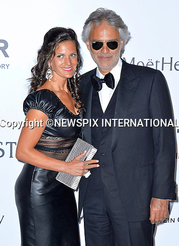 12.05.2015, Antibes; France: ANDREA BOCELLI AND VERONICA BERTI<br /> attends the Cinema Against AIDS amfAR gala 2015 held at the Hotel du Cap, Eden Roc in Cap d'Antibes.<br /> MANDATORY PHOTO CREDIT: &copy;Thibault Daliphard/NEWSPIX INTERNATIONAL<br /> <br /> (Failure to credit will incur a surcharge of 100% of reproduction fees)<br /> <br /> **ALL FEES PAYABLE TO: &quot;NEWSPIX  INTERNATIONAL&quot;**<br /> <br /> Newspix International, 31 Chinnery Hill, Bishop's Stortford, ENGLAND CM23 3PS<br /> Tel:+441279 324672<br /> Fax: +441279656877<br /> Mobile:  07775681153<br /> e-mail: info@newspixinternational.co.uk