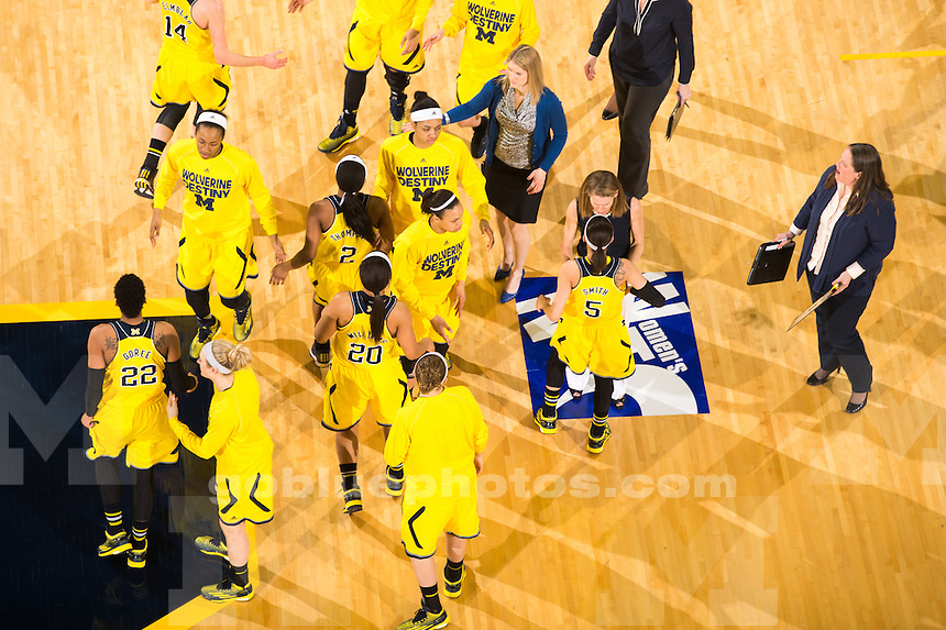 The University of Michigan women's basketball team falls to UCLA in the semifinal of the WNIT, 69-65, at Crisler Center in Ann Arbor, Mich. on April 1, 2015.