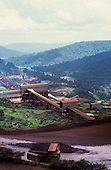Carajas, Brazil. Aerial view of mine ore benification area of the Carajas iron ore mine.