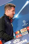 Atletico de Madrid's coach Diego Pablo Cholo Simeone in press conference. April 11, 2017.(ALTERPHOTOS/Acero)
