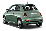 Car pictures of rear three quarter view of 2016 Fiat 500 Sport 3 Door Hatchback Angular Rear