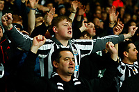 3rd March 2020; The Hawthorns, West Bromwich, West Midlands, England; English FA Cup Football, West Bromwich Albion versus Newcastle United; A Newcastle United fan celebrates their victory