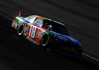 Mar. 1, 2009; Las Vegas, NV, USA; NASCAR Sprint Cup Series driver Kyle Busch during the Shelby 427 at Las Vegas Motor Speedway. Mandatory Credit: Mark J. Rebilas-