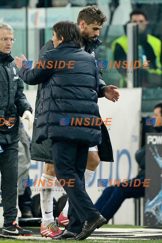 Fernando Llorente, Antonio Conte Juventus<br /> Torino 02-02-2014 Juventus Stadium - Football 2013/2014 Serie A. Juventus - Inter Foto Giuseppe Celeste / Insidefoto