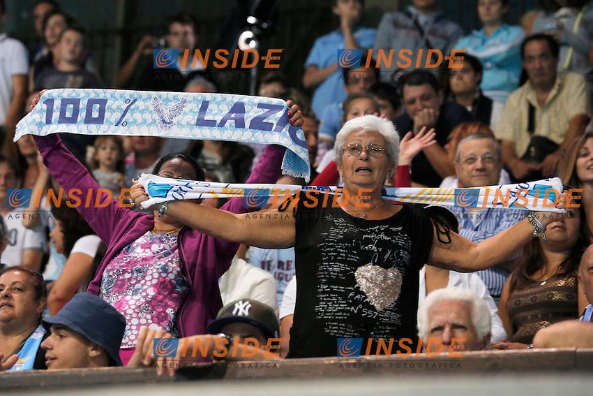 Tifosi Lazio,<br /> Auronzo di Cadore (Belluno) 20/7/2013 <br /> Football Calcio 2013/2014 Serie A <br /> Presentazione SS Lazio <br /> Ritiro precampionato SS Lazio <br /> Foto Marco Bertorello Insidefoto