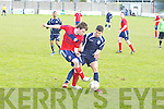 Balloonagh FC's Laza Radulescu and CSKA's Kieran O'Donovan in action in the division 2A final at Mounthawk park, Tralee on Sunday.