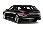 Car pictures of rear three quarter view of a 2019 Audi A6 Avant Sport 5 Door Wagon angular rear