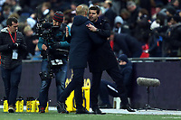 Manchester City Manager Josep Guardiola and Tottenham Hotspur manager Mauricio Pochettino after  Tottenham Hotspur vs Manchester City, Premier League Football at Wembley Stadium on 29th October 2018