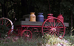 Wagon with milk cans New England States, six-state region, Connecticut, Massachusetts, Rhode Island, thriving tourist industry, If you don't like the weather, wait ten minutes, Fine Art Photography by Ron Bennett, Fine Art, Fine Art photography, Art Photography, Copyright RonBennettPhotography.com ©