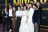 "LOS ANGELES - NOV 14:  Rian Johnson, Michael Shannon, Jaeden Martell, Daniel Craig, Katherine Langford, Don Johnson, Ana de Armas, Chris Evans, Jamie Lee Curtis, Ram Bergman at the ""Knives Out"" Premiere at Village Theater on November 14, 2019 in Westwood, CA"