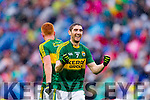 Killian Young Kerry Celebrates after defeating Tyrone in the All Ireland Semi Final at Croke Park on Sunday.