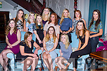 Cora Power Coolick, Kilcummin, seated centre who celebrated her 21st birthday with her family and friends in the Killarney Avenue Hotel on Saturday night front row l-r: Elaine Holmes, Lucy Lyne, Cora Power, Laura Spillane, Paula Kiely. Back row: Louise Kennedy, Michaela Deane, Holly Kenny, Michaela power, jessica Edwards, Marie Cronin, Chlow O'Doherty, Lauren McCannon