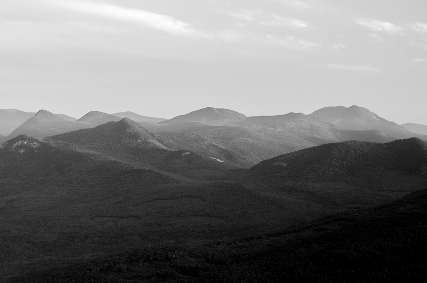 The lay of the rugged land in New Hampshires White Mountains.