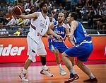 Kosarka-Basketball<br /> Srbija v Grcka-Prijateljski Mec<br /> Milos Teodosic (L) Nick Calathes (C)<br /> Beograd, 28.06.2016.<br /> foto: Srdjan Stevanovic/Starsportphoto &copy;
