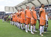 Sky Blue FC lines up before the Sky Blue FC 1-0 victory over the LA Sol to win the WPS Championship match at the Home Depot Center, Saturday, August 22, 2009.