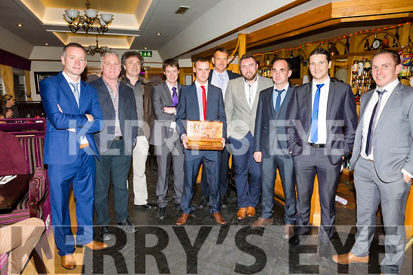 The Seine Boat Crew of The Liberator who won the Johnny O'Mahony trophy for the overall at the South & Mid Kerry Social on Saturday were l-r; John Paul O'Connor, Paul Murphy, Mike Murphy, Stephen McCarthy, Karl Quirke, Brian Foran, Pa McGill, Ger O'Shea, Adrian O'Connell, Aidan O'Sullivan, missing from photo Mike O'Connor(cox), Cian O'Shea & Paudie Donovan.
