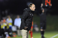 Boyds MD - April 19, 2014: Washington Spirit Head Coach Mark Parsons. The Washington Spirit defeated the FC Kansas City 3-1 during a regular game of the 2014 season of the National Women's Soccer League at the Maryland SoccerPlex.