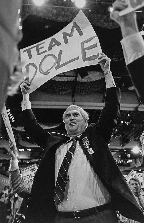 Rep. Jimmy Duncan, R-Tenn., at the Republican National Convention, in 1996. (Photo by Laura Patterson/CQ Roll Call via Getty Images)