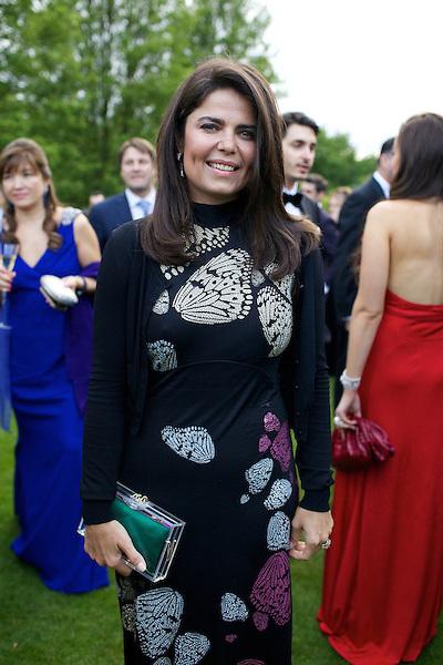 Daniella Helayel of Issa at Elton John's White Tie and Tiara Ball