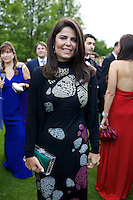 Daniella Helayel of Issa at Elton John's White Tie and Tiara Ball