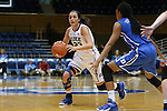 26 October 2014: Rebecca Greenwell (23) and Azura Stevens (right). The Duke University Blue Devils held their annual Blue-White Game at Cameron Indoor Stadium in Durham, North Carolina in preparation of the upcoming 2014-15 NCAA Division I Women's Basketball season.